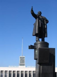 Statue of Lenin at the Finland Station in St Petersburg