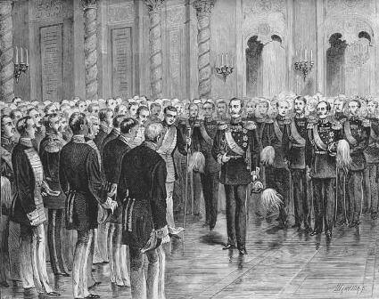 Alexander II addressing the nobility