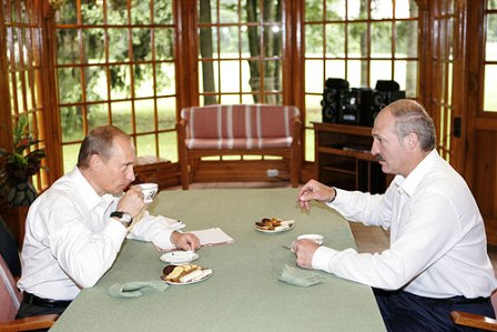 President Putin holding talks with the leader of Belarus, Alexander Lukashenka. Photo: kremlin.ru
