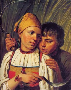 Peasants. Painting by A. Venetsianov