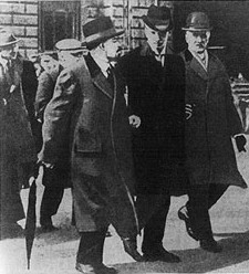 Lenin at Stockholm Cetral Railway Terminal on his way to Russia, 31 March 1917