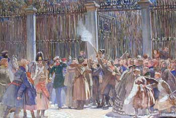 Karakozov Shoots at the Tsar. By D. Kardovsky
