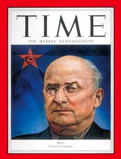 "Beria - ""Enemy of the People"". The cover of the Time magazine. 20 July 1953"