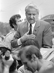 Yeltsin at a mass rally in Moscow, 1989. Photo: grani.ru