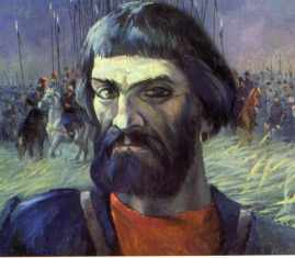 Pugachev, the leader of 18th-century peasant revolt. Painting by V. Belykh