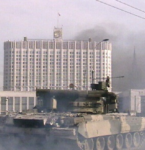The shelling of the parliament building by tanks: 4 October, 1993