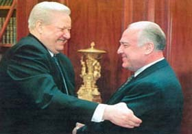 Boris Yeltsin and Victor Chernomyrdin