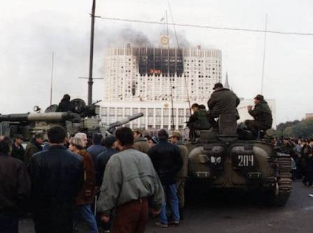 The shelling of the parliament building by tanks: October 1993